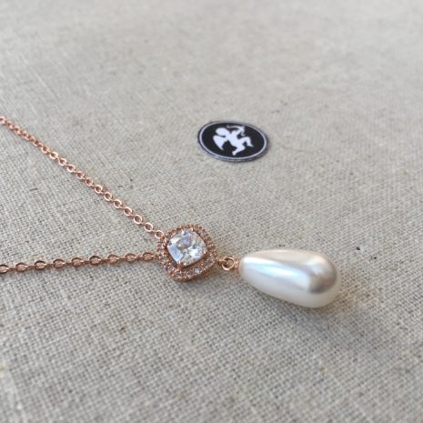 collier strass perle